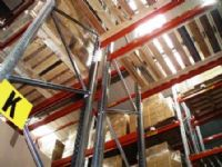 Dexion warehouse racking frames beams and open timber decks west yorkshire