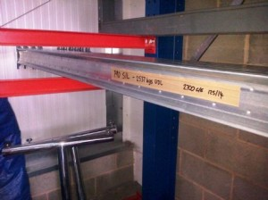 dexion P90 silverline pallet racking beams 2700mm ce 2.5T