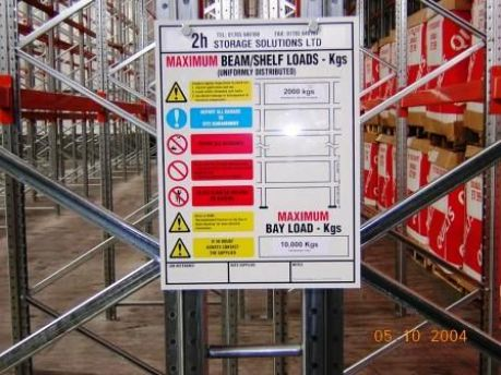 Racking Safety Load Notices
