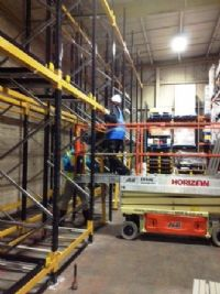 Push Back warehouse pallet racking installation