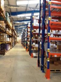 pallet racking shelving and plastic storage boxes Yorkshire