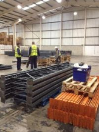 used link 51 warehouse pallet racking frames and beams supplied and installed