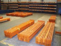 warehouse pallet racking used pallet racking beams ready for installation