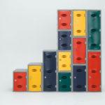 Plastic Locker 450 high x 320 Wide x 460 Deep - Red