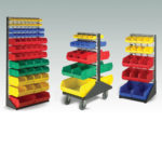 Mobile Louvre Rack 457 Wide x 1080 High - Containers Not included