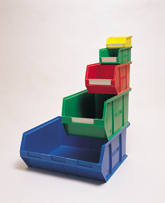 CP5 Container 207 Wide x175 High x 350 Long - Pack 10 Colours Red, Blue, Green or Yellow