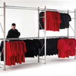 Extension Bay 2400 high x 1800 wide x 500 deep c/w 2 hanging levels per bay