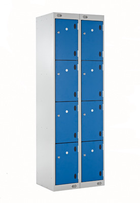 Blue inset laminate lockers 2hssl for Wood lockers with doors