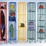 Full height wire mesh lockers