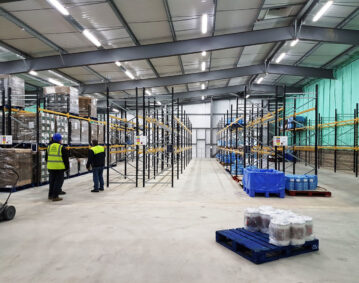 Pallet Racking on top of a Mezzanine Floor: for Vale of Mowbray Pork Pie Manufacture