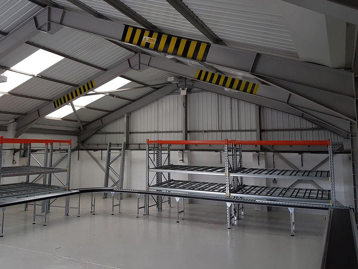 Powered Conveyor Carton Flow Installation