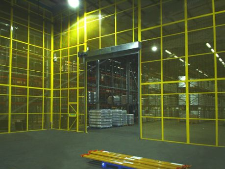 warehouse mesh partition